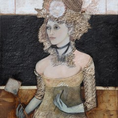 """Ieva"", Mixed Media on Canvas, 48×36 inches, 2013"