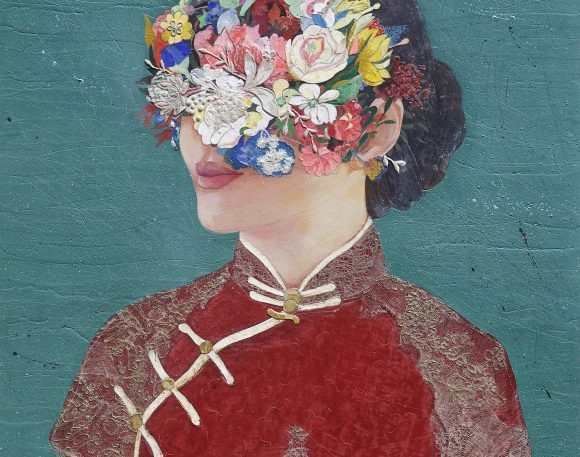Floral Cheongsam Girl