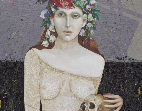 """ Girl With Skull "" (JUDITH)"